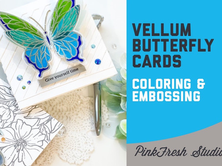 PinkFresh Studio - Vellum Butterfly Cards