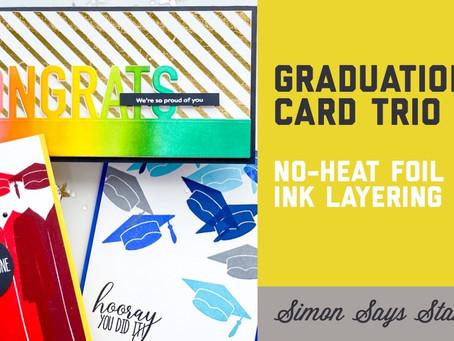 Simon Says Stamp - Born to Sparkle Graduation Card Trio