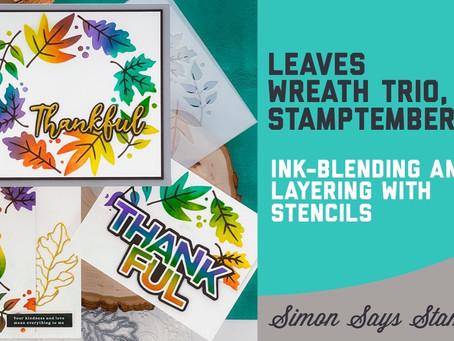 Simon Says Stamp - Leaves Wreath Trio, STAMPtember 2021