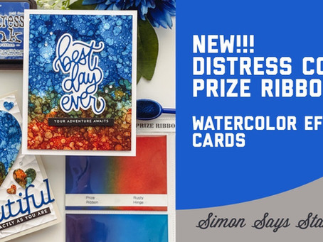 Simon Says Stamp - New Distress Color Launch, Prize Ribbon