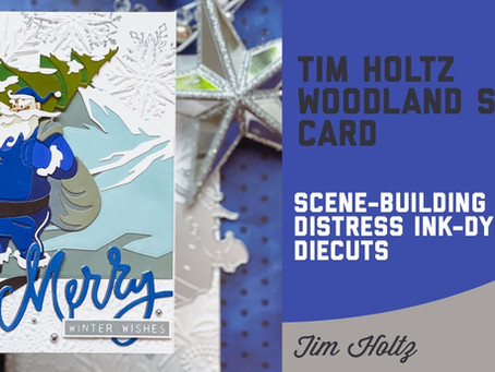 Tim Holtz - Woodland Santa Card