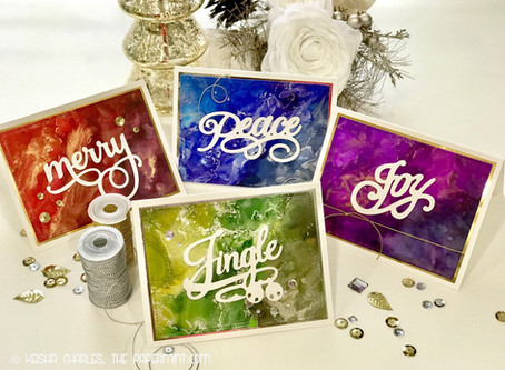 Alcohol Ink Holiday Cards - Part 4