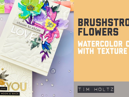 Tim Holtz - Watercolor Brushstroke Flower Cards