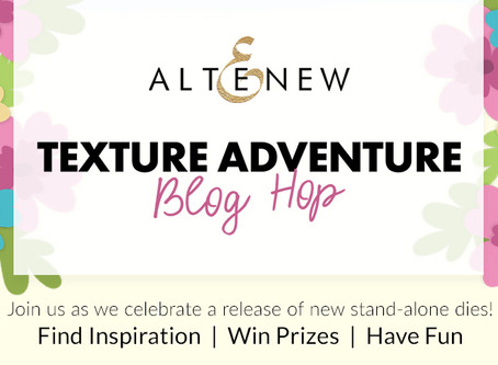 Altenew Texture Adventure Stand-alone Dies Release Blog Hop + Giveaway