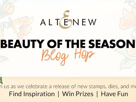 Altenew Beauty of the Season Stamps/Dies/Stencils/Embossing Folders Release Blog Hop + Giveaway!