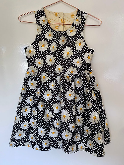Daisy Open Back Dress with Yellow