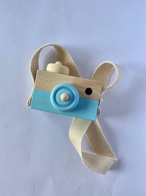 Child's Wooden Camera Blue