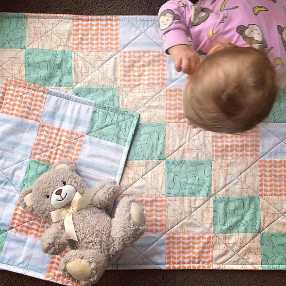 Made by Gabbee handmade baby quilt