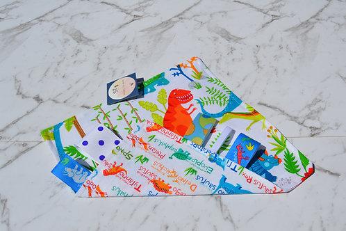Handmade Crinkle Paper Taggie Dino Print
