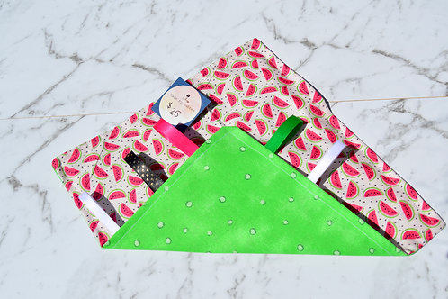 Handmade Crinkle Paper Taggie Watermelons