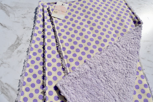 Cotton Purple Polka Dots Burp Cloth