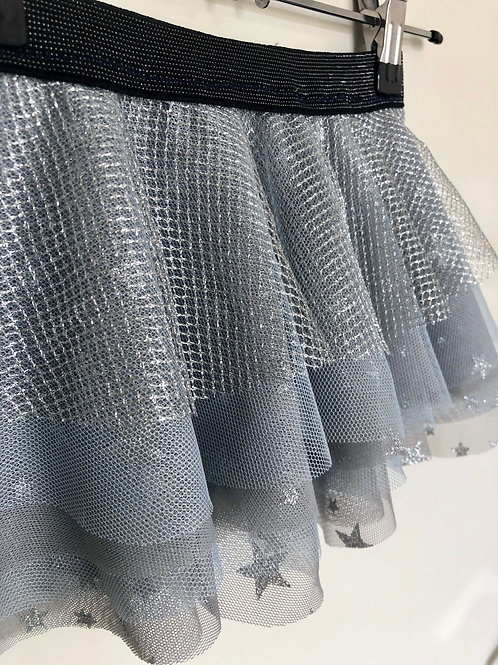 Silver and Baby Blue Tulle Baby Girls Skirt
