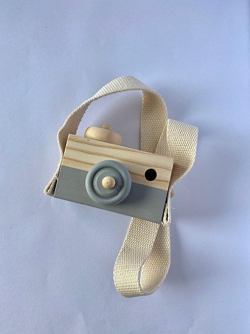 Child's Wooden Camera Grey