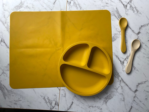 Mustard Tableware Silicon Plate and Table Placemat