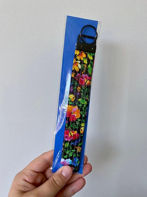 Small Rainbow Floral Key Fob Wristlet