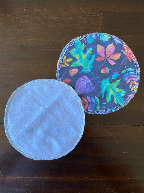 Rainbow Leaves Reusable MakeUp Wipes (2pk)