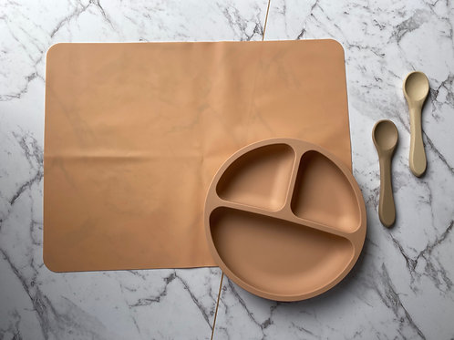 Clay Tableware Silicon Plate and Table Placemat