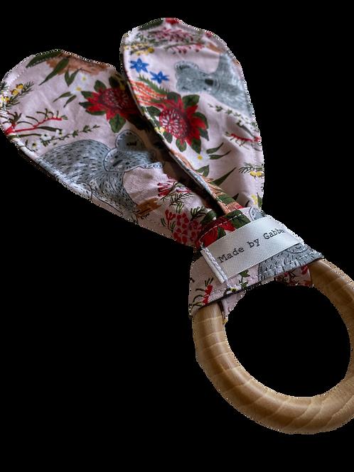 Australian Wooden Teething Crinkle Paper Ring