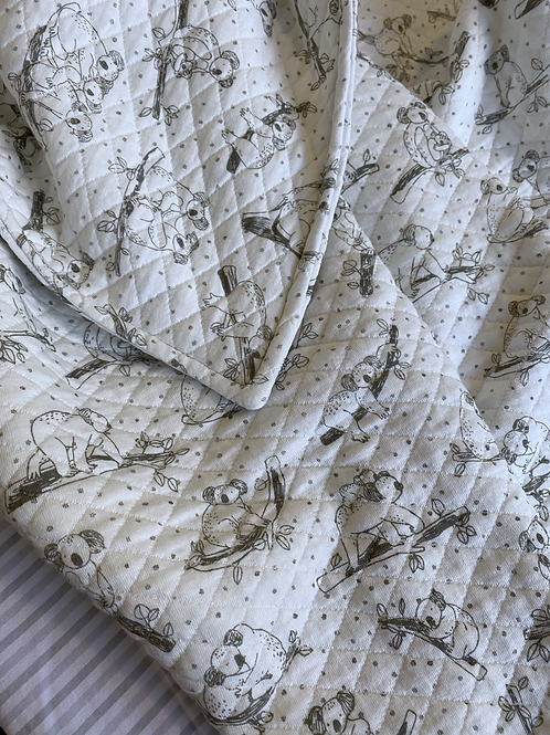 Sage Koala Pram Blanket/ Comforter