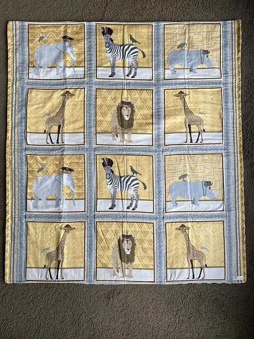 Neutral Zoo Theme Handmade Quilt