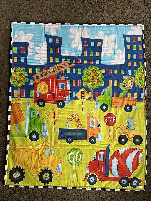 Work Trucks Handmade Quilt