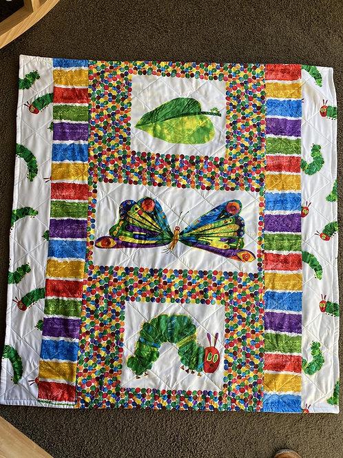 Very Hungry Caterpillar Handmade Quilt