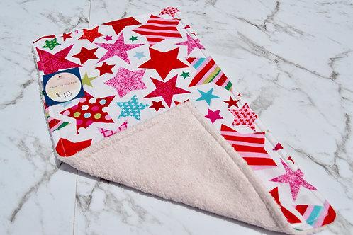 Cotton Bright Stars Burp Cloth