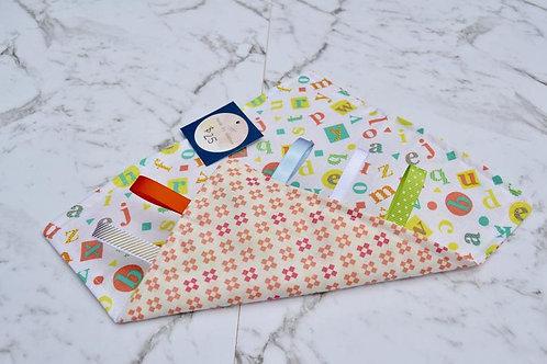 Handmade Crinkle Paper Taggie Letters Print
