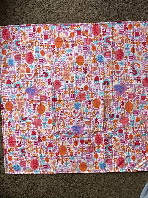 Bright Rain bows Handmade Quilt
