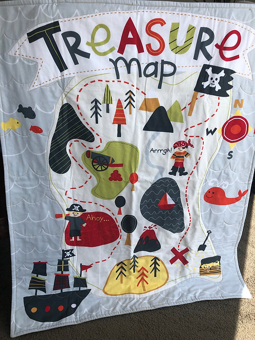 Baby Playtime Treasure Map Mat Quilt