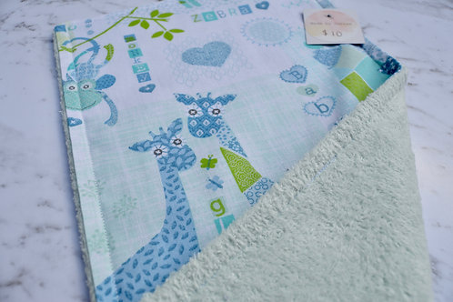 Cotton Green Animal Burp Cloth