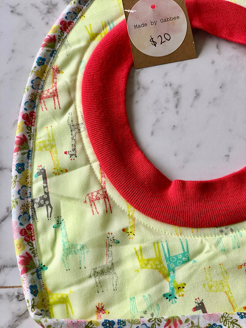 Cotton Pull Over High Vis Giraffe Bib
