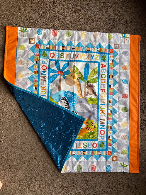 Safari Baby Quilt/ Safari Play Mat