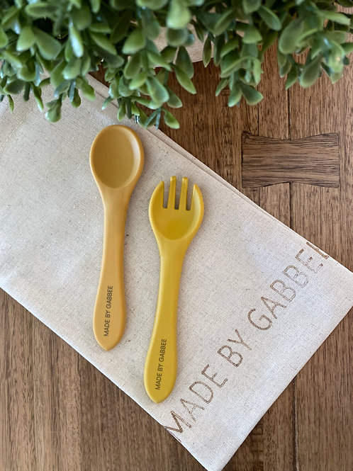 Mustard Spoon and Fork Set