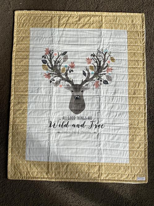 Wild and Free Deer Handmade Quilt