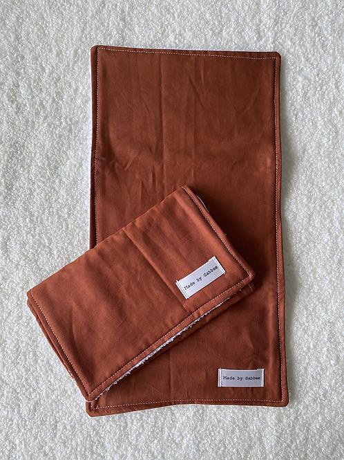 Rust Burp Cloth