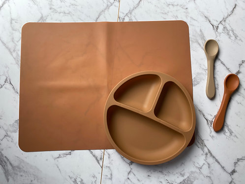 Apricot Tableware Silicon Plate and Table Placemat