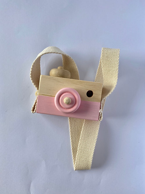 Child's Wooden Camera Pink