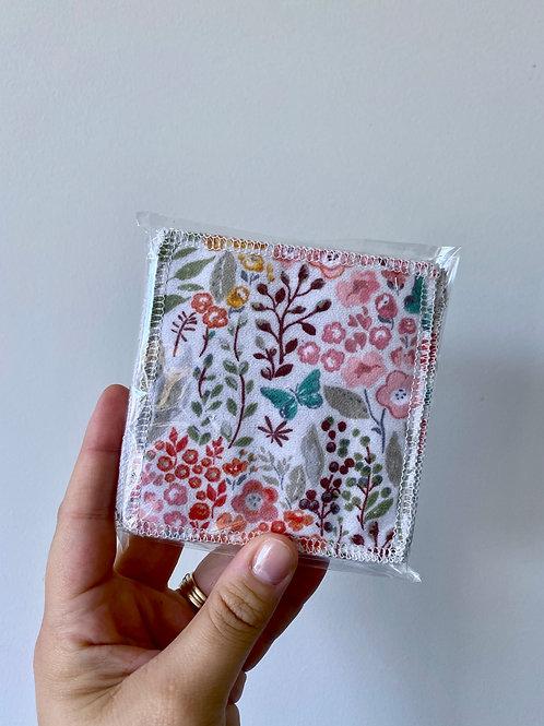Multicoloured Dainty Floral Reusable MakeUp Wipes (10pk)