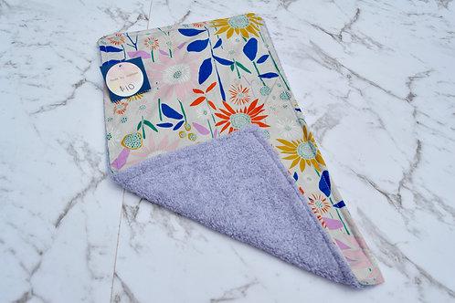 Cotton Purple Floral Burp Cloth