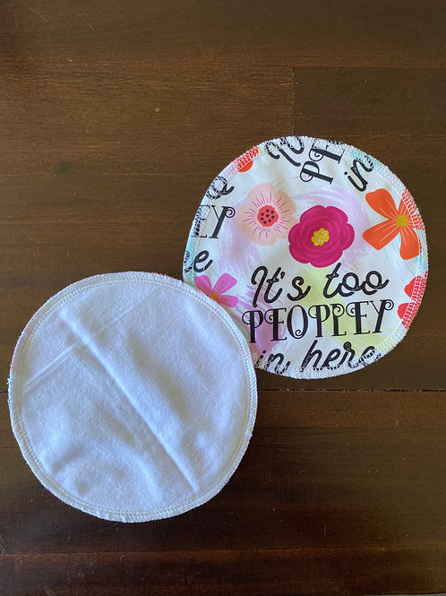 Its too Peopley in here Reusable MakeUp Wipes (2pk)
