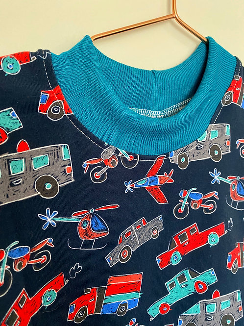 Sketched Automobiles Kid T-Shirt