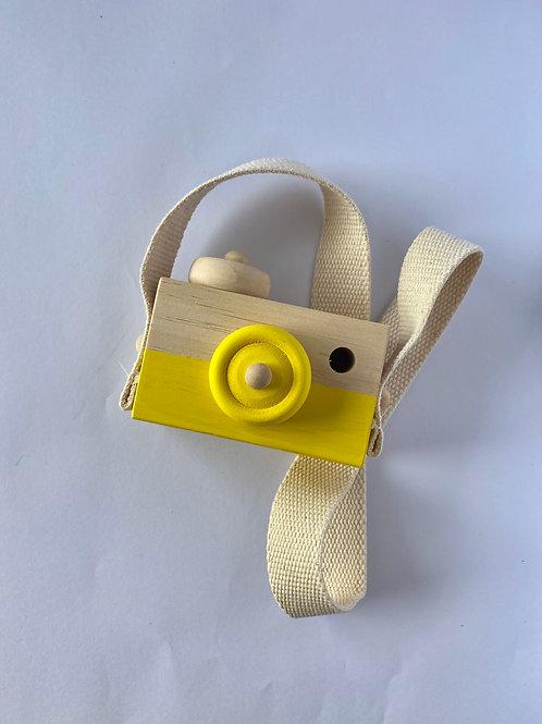 Child's Wooden Camera Yellow