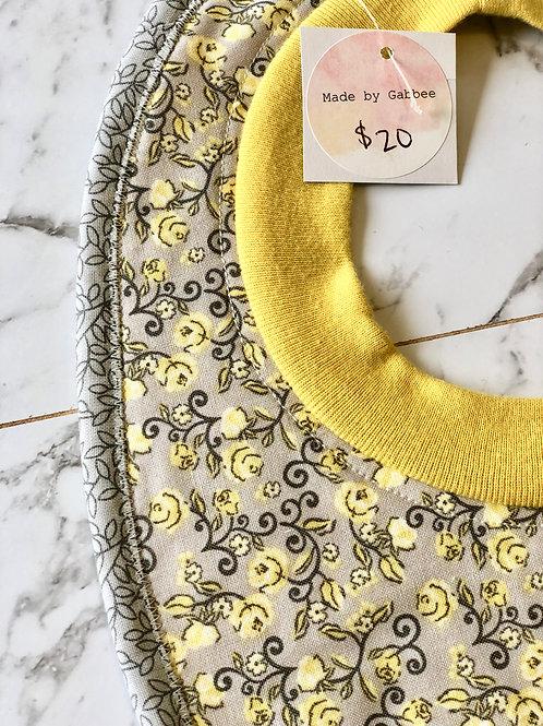 Cotton Pull Over Yellow Flower Bib