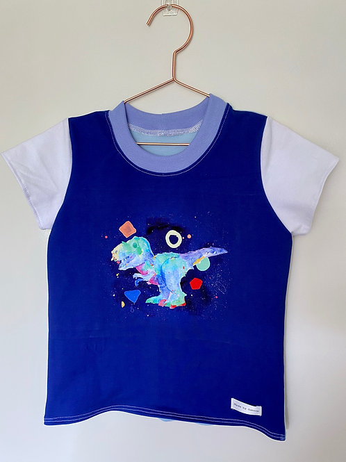 Abstract Dino Cotton Lycra T-Shirt