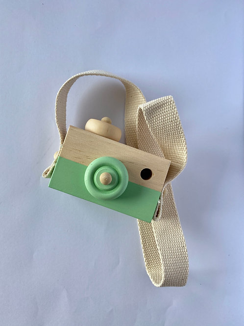 Child's Wooden Camera Green
