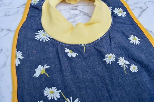 Cotton Pull Over Daisy Bib