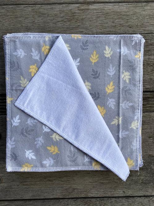 unisex Leaves Reusable Cotton Wipes 10pk
