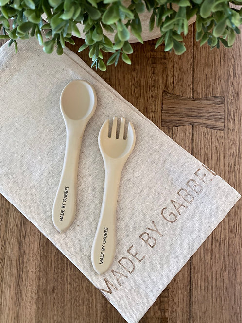 Khaki Spoon and Fork Set