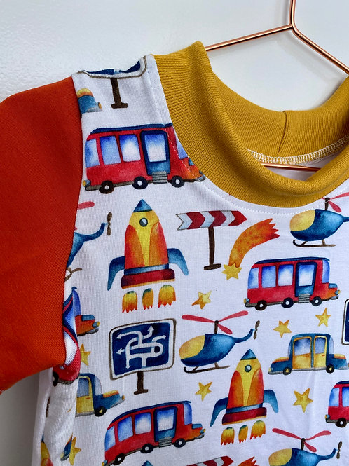 Primary Colours Automobiles Kids T-Shirt